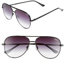 Women's Quay Australia X Desi Perkins High Key Mini 57Mm Aviator Sunglasses - | Nordstrom
