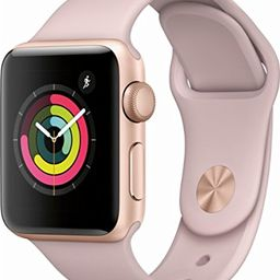 Apple Watch Series 3 - GPS - Gold Aluminum Case with Pink Sand Sport Band - 38mm | Amazon (US)