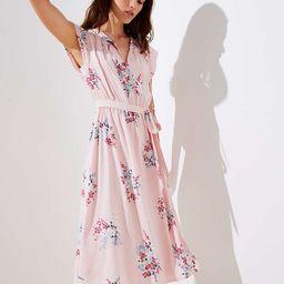 Bouquet Tie Waist Flutter Dress | LOFT