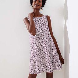 Palm Sleeveless Swing Dress | LOFT