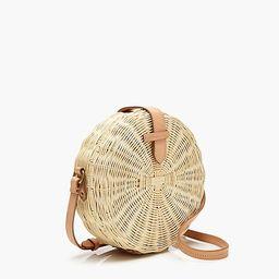 Circle straw crossbody bag | J.Crew US