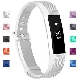 Fundro Fitbit Alta Bands, Soft Silicone Replacement Classic Bands Available in Varied Colors with Se | Amazon (US)
