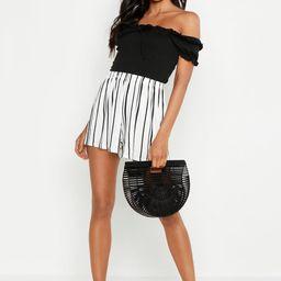 Striped Jersey Shorts   Boohoo.com (US & CA)