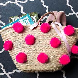 Pink Pom Pom Basket | Etsy (US)