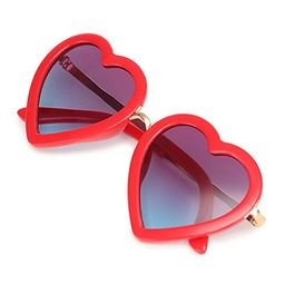 CMK Trendy Kids Trendy Heart Shaped Sunglasses for Toddler Girls Age 3-10 (62015_red) | Amazon (US)