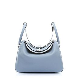 Ainifeel Women's Genuine Leather Shoulder Handbag And Purse Hobo Bag (Grey blue) | Amazon (US)