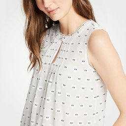 Geo Scalloped Pintucked Shell   Ann Taylor (US)