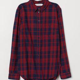 H & M - Plaid Shirt - Red | H&M (US)