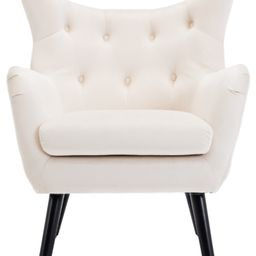 https://www.houzz.com/product/121010548-mid-century-tufted-wingback-chair-white-midcentury-armchairs   Houzz