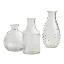 Clear Glass Bud Vases Set of 3   World Market