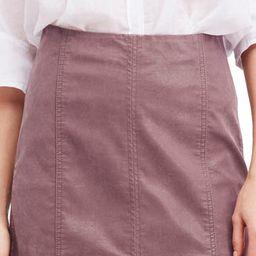 Faux Leather Miniskirt   Nordstrom