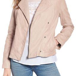 Hinge Feminine Leather Moto Jacket | Nordstrom