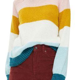 Topshop Colorblock Knit Pullover | Nordstrom