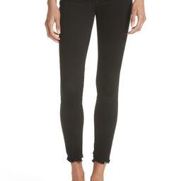 FRAME Le Skinny de Jeanne Raw Hem Skinny Jeans (Noir Chew) | Nordstrom