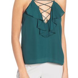 WAYF Lace-Up Ruffle Cami | Nordstrom