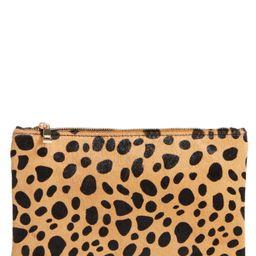 BP. Leopard Print Genuine Calf Hair Pouch | Nordstrom