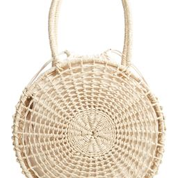 Topshop Bella Straw Circle Tote Handbag | Nordstrom
