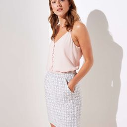 Checked Jacquard Pull On Skirt   LOFT