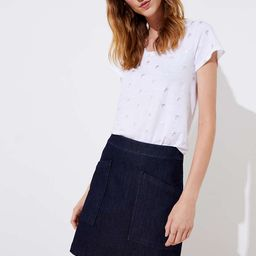 Denim Pocket Shift Skirt | LOFT