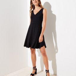 Dotted V-Neck Flare Dress   LOFT   LOFT