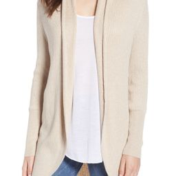 Ribbed Shawl Cocoon Sweater   Nordstrom