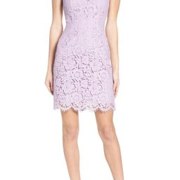 BB Dakota 'Cara' High Neck Lace Dress   Nordstrom