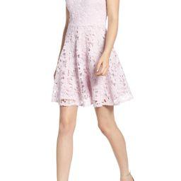 Soprano Lace Skater Dress   Nordstrom
