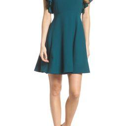 Crepe Fit & Flare Dress   Nordstrom
