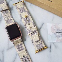Louis Vuitton Damier Azur Apple Watch Strap 38MM & 42MM, Repurposed Louis Vuitton, Upcycle,Handmade    Etsy (US)