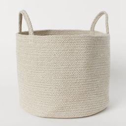 H & M - Cotton Storage Basket - Beige | H&M (US)