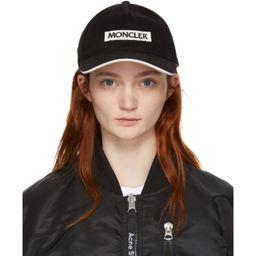 Moncler - Black Logo Cap | SSENSE