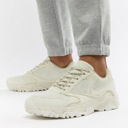 ASOS DESIGN trainers in tonal off white with chunky sole   ASOS UK