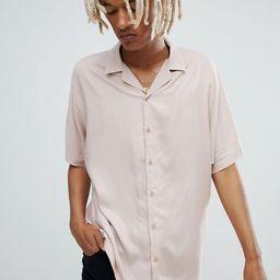 ASOS DESIGN oversized viscose batwing sleeve shirt in pink   ASOS UK