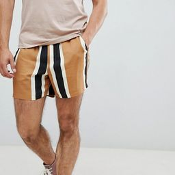 ASOS DESIGN slim shorts in block stripe   ASOS UK