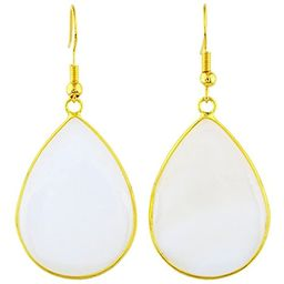 SUNYIK Women's Stone Slice Dangle Drop Earrings for Women,Mother's Day Gift | Amazon (US)