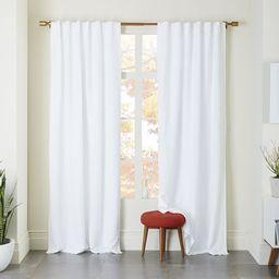 Belgian Flax Linen Curtain - White   West Elm (US)