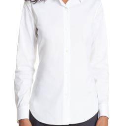 Theory 'Tenia' Cotton Blend Blouse | Nordstrom