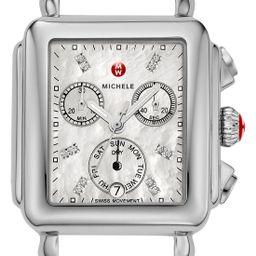 MICHELE Deco Diamond Dial Watch Case, 33mm x 35mm | Nordstrom