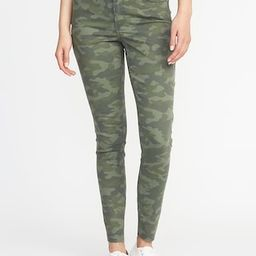 Mid-Rise Camo-Print Raw-Edge Rockstar Ankle Jeans   Old Navy US
