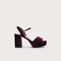 Keriss Wine Velvet Sandals | L.K. Bennett (UK)