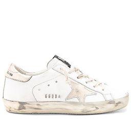 Golden Goose Superstar Sneaker in Sparkle White & Gold Star | Revolve Clothing (Global)