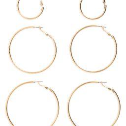 BP. 3-Pack Hoop Earrings | Nordstrom