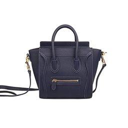 Ainifeel Women's Smile Genuine Leather Small Crossbody Bag Messenger Bag | Amazon (US)