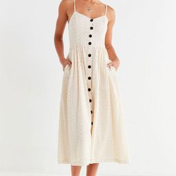 UO Abbie Eyelet Button-Down Dress | Urban Outfitters (US and RoW)