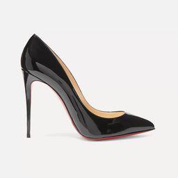 Christian Louboutin - Pigalle Follies 100 Patent-leather Pumps - Black | Net-a-Porter (US)