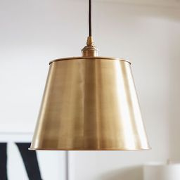 PB Classic Pendant with Tapered Metal Shade   Pottery Barn (US)