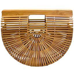 Miuco Womens Bamboo Handbag Handmade Large Tote Bag   Amazon (US)