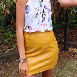 Vegan Mustard Skirt   Shoptiques