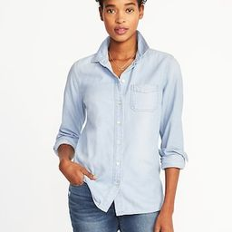 Classic Chambray Shirt for Women   Old Navy US