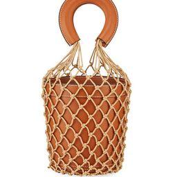 Staud Moreau Leather and Net Bucket Bag | Bergdorf Goodman